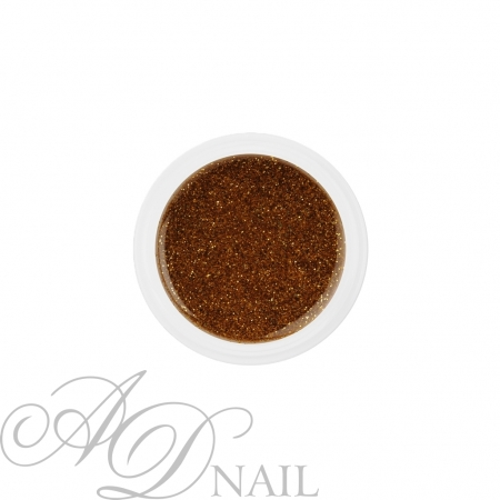 Gel uv colorato glitterato oro 5ml