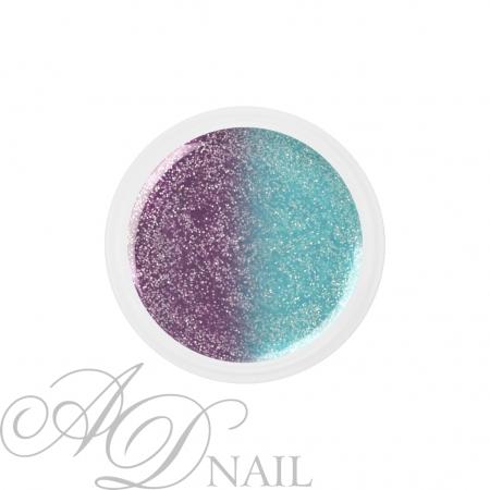 Gel uv colorato termico cambia colore Glitter Blu - Lilla 5ml