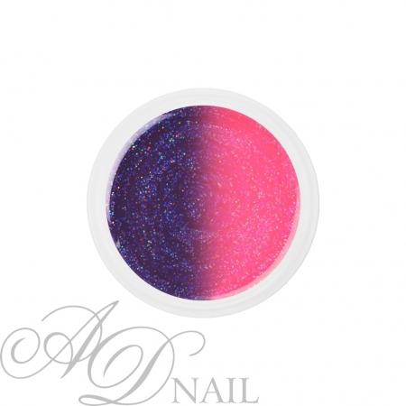 Gel uv colorato termico cambia colore Glitter Rosa - Viola 5ml